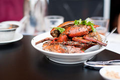 Black pepper crab Stock Photos