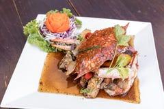 Black pepper crab Stock Photos
