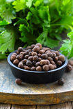 Black pepper flavored spice Stock Photo