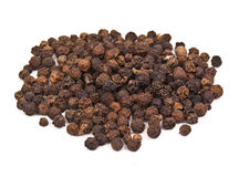 Black pepper grains Stock Photo