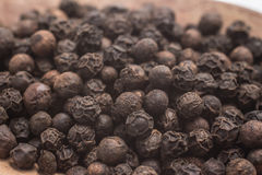 Black pepper grains Royalty Free Stock Photo