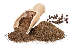 Black Pepper Ground Royalty Free Stock Images