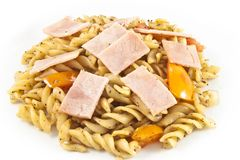 Black Pepper Ham Pasta Royalty Free Stock Photos