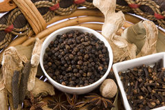 Black Pepper, Indian Spices Stock Photography
