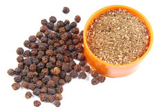 Black pepper isolated Royalty Free Stock Photography