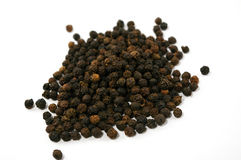 Black pepper isolated on white Royalty Free Stock Photography