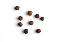 Black pepper isolated on white background royalty free stock photography