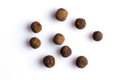 Black pepper isolated on white background royalty free stock images