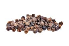 Black pepper macro as isolation ower white Stock Images
