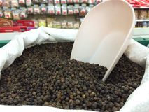 Black pepper. In market Stock Photography