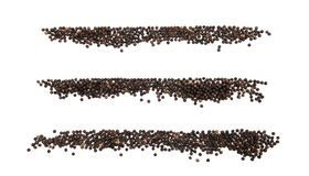 Black pepper menu Stock Image