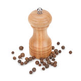 Black pepper and mill Stock Images