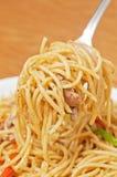 Black pepper pasta Royalty Free Stock Photo