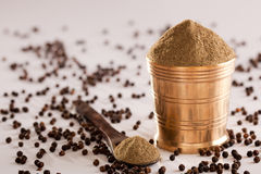 Black Pepper powder. Black Pepper powder - It is type spice which is used in indian recipes Stock Photos