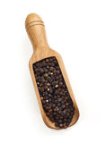 Black pepper scoop Stock Photography