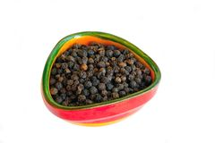 Black pepper in small bowl Stock Photography