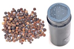 Black pepper with sprinkler Royalty Free Stock Image