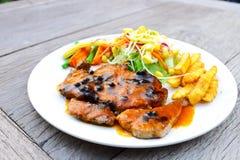 Black pepper T bone steak Stock Image