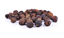 Black pepper was placed on a white background Stock Images