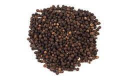 Black pepper was placed on a white background Royalty Free Stock Images