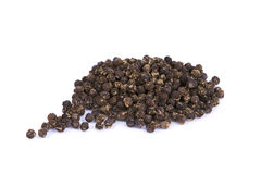 Black pepper. With white background Stock Image