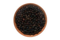 Black pepper on white background. Fresh and sharp and black pepper isolated on white background Stock Images