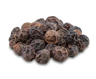 Black pepper on white background. Royalty Free Stock Photography