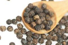 Black pepper on white Stock Photos