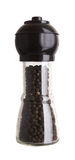 Black pepper on white Royalty Free Stock Photography