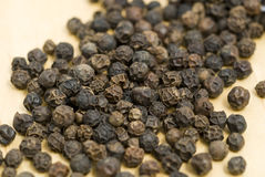 Black peppercorn close up Stock Photography