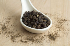 Black peppercorn Stock Image