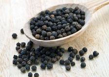 Black peppercorns Royalty Free Stock Photo