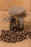Black peppercorns in a jar Royalty Free Stock Photo