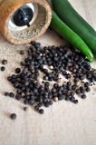 Black peppercorns Royalty Free Stock Photos