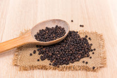Black peppercorns Royalty Free Stock Images