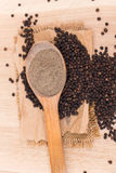 Black peppercorns Stock Image