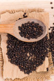 Black peppercorns Royalty Free Stock Photography