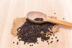 Black peppercorns Royalty Free Stock Image