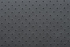 Black Perforated Leather or Skin Texture Royalty Free Stock Photos