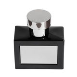 Black perfume bottle Stock Image