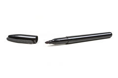 Black permanent marker. Isolated on white background Stock Photography