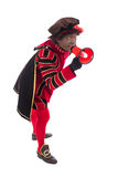 Black Pete with megaphone Stock Photo