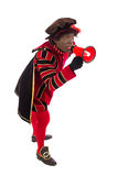 Black Pete with megaphone Royalty Free Stock Image
