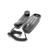 Black phone. Isolated on a white background Royalty Free Stock Images