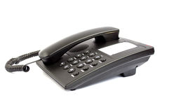 Black phone. On a white background Royalty Free Stock Images