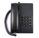 Black phone. On a white background Stock Image