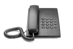 Black phone. With buttons on a white background Royalty Free Stock Photos