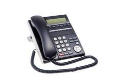 Black phone closeup isolated on white. Background Stock Photography
