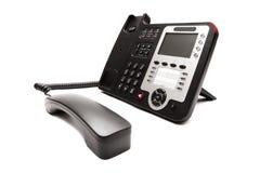 Black phone isolated on white background Royalty Free Stock Image