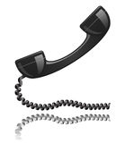 Black phone receiver Royalty Free Stock Photography